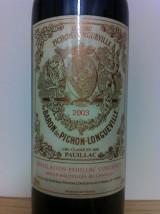 CHÂTEAU BARON de PICHON LONGUEVILLE 2003