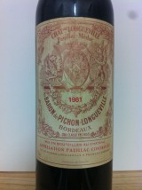 CHÂTEAU BARON de PICHON LONGUEVILLE 1981